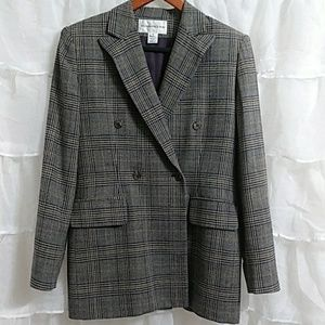 EVAN PICONE Double Breasted Wool Blazer Size 6